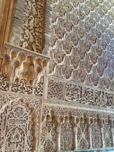 A little zoom in on what makes up the walls of the Alhambra